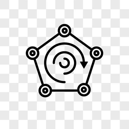 Radar vector icon isolated on transparent background, Radar logo concept Ilustração