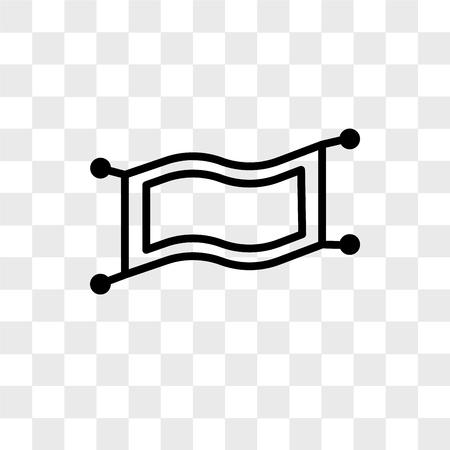 Magic Carpet vector icon isolated on transparent background, Magic Carpet logo concept