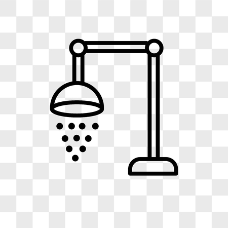 shower vector icon isolated on transparent background, shower logo concept Vectores