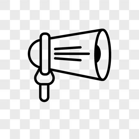 loudspeaker vector icon isolated on transparent background, loudspeaker logo concept