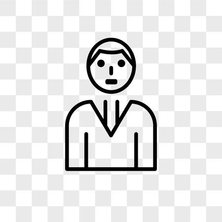 Icône de vecteur d'avatar isolé sur fond transparent, concept logo Avatar