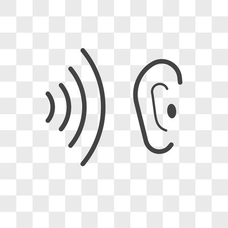 whisper vector icon isolated on transparent background, whisper logo concept