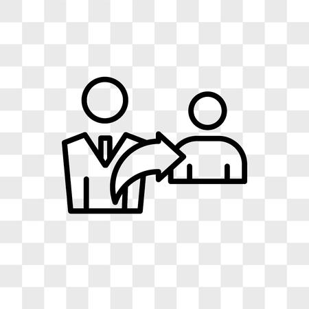 icono de vector de referencias aislado sobre fondo transparente, concepto de logo de referencias
