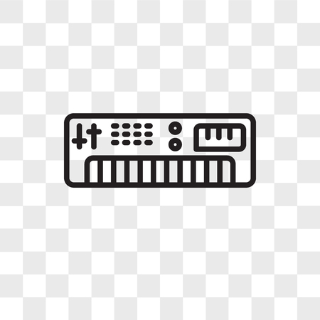 Synthesizer vector icon isolated on transparent background, Synthesizer logo concept Stock Illustratie