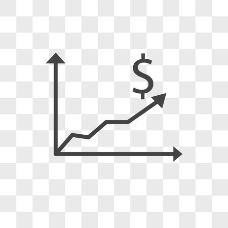 Kosteneffizienzvektorikone lokalisiert auf transparentem Hintergrund, Kosteneffizienzlogokonzept Logo