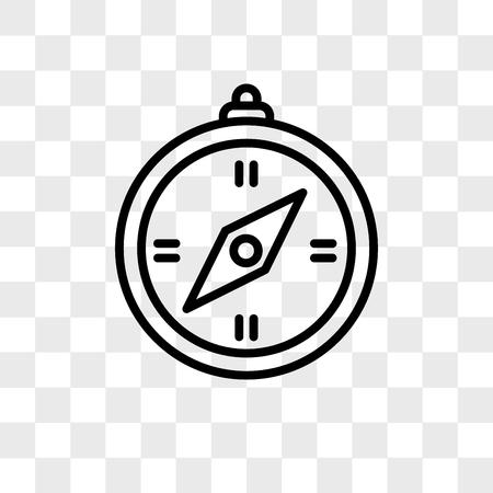 Icono de vector de brújula aislado sobre fondo transparente, concepto de logo de brújula