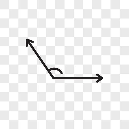 Vector hoekpictogram geïsoleerd op transparante achtergrond, hoek logo concept Logo