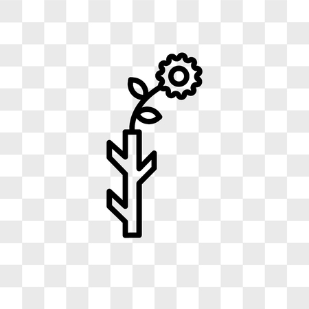 Budding Staff vector icon isolated on transparent background, Budding Staff logo concept Illustration