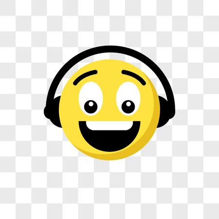 Music emoji vector icon isolated on transparent background, Music emoji logo concept
