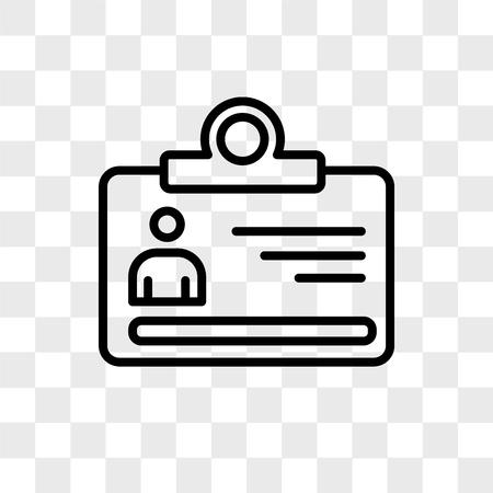 Icône de vecteur de visiteur isolé sur fond transparent, concept logo visiteur Logo