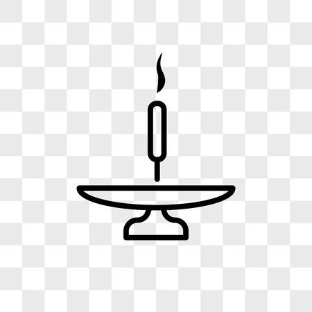 Bastoncino di incenso su un'icona di vettore di base isolato su sfondo trasparente, Bastoncino di incenso su un concetto di logo di base