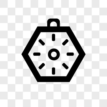 Localization orientation tool of compass with cardinal points vector icon isolated on transparent background, Localization orientation tool of compass with cardinal points logo concept Logo