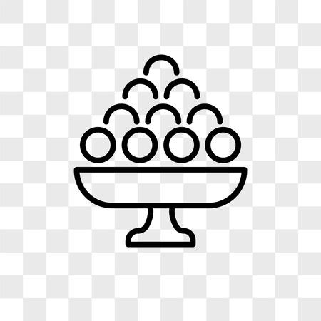 Icono de vector de Laddu aislado sobre fondo transparente, concepto de logo de Laddu Logos