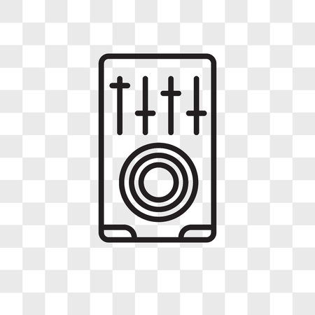 Mixer vector icon isolated on transparent background, Mixer logo concept  イラスト・ベクター素材