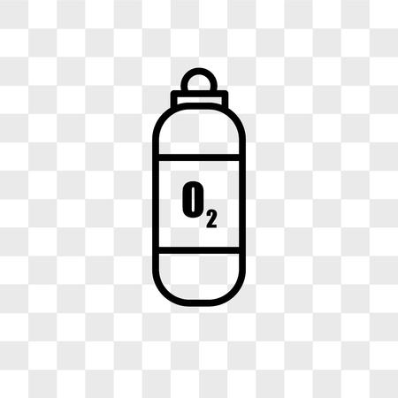 Zuurstof tank vector pictogram geïsoleerd op transparante achtergrond, zuurstof tank logo concept