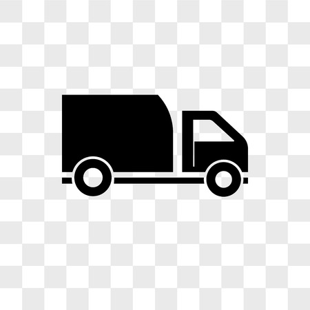 Delivery truck vector icon isolated on transparent background, Delivery truck logo concept