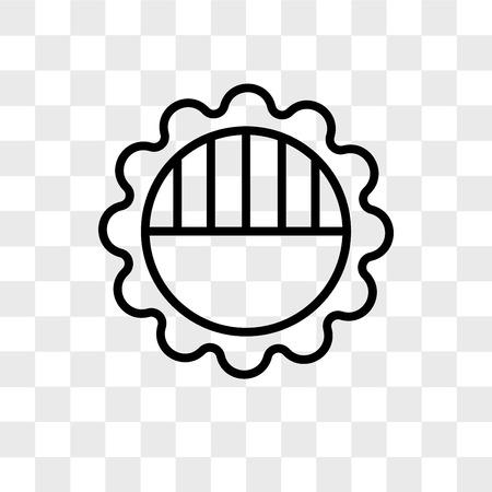 Brightness vector icon isolated on transparent background, Brightness logo concept