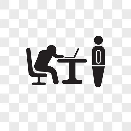 Baas vangen een werknemer slapende vector pictogram geïsoleerd op transparante achtergrond, baas vangen een werknemer slapen logo concept