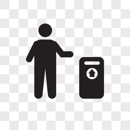 Trash vector icon isolated on transparent background, Trash logo concept