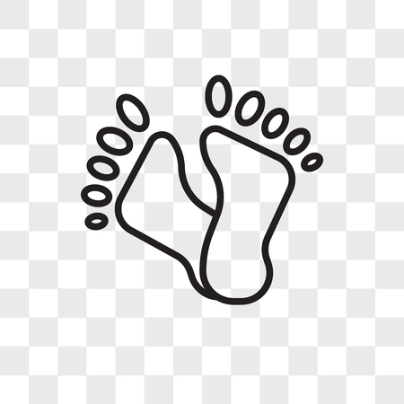 Foot print vector icon isolated on transparent background, Foot print logo concept Archivio Fotografico - 108801197