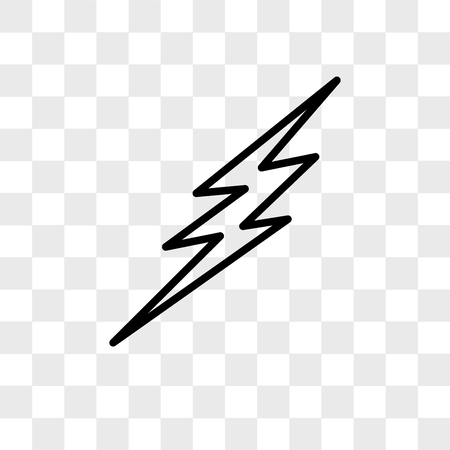 Bolt vector icon isolated on transparent background, Bolt logo concept Иллюстрация