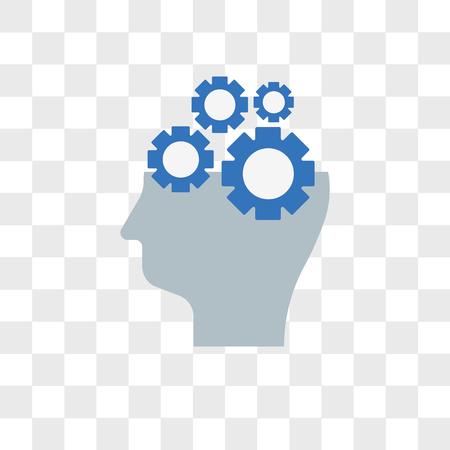 Vektorikone der künstlichen Intelligenz lokalisiert auf transparentem Hintergrund, Logokonzept der künstlichen Intelligenz