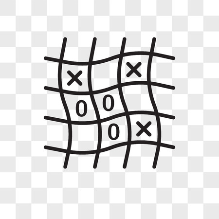 Tic Tac Toe vector icon isolated on transparent background, Tic Tac Toe logo concept Çizim