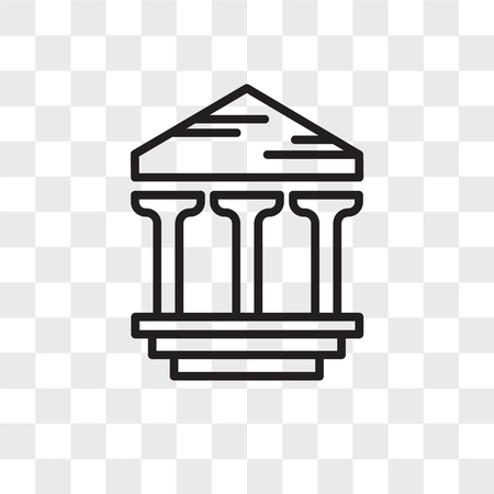 Archaeological vector icon isolated on transparent background, Archaeological logo concept