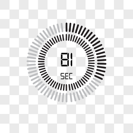 The 81 seconds vector icon isolated on transparent background, The 81 seconds logo concept