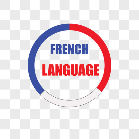 french language icion on shite background, in colors of french flag, vector icon isolated on transparent background, french language icion on shite background, in colors of french flag, logo concept