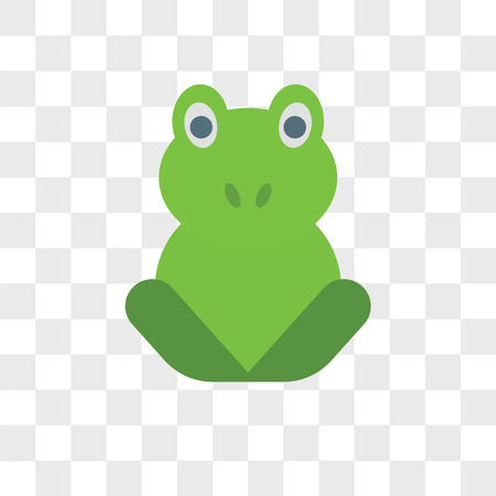 Frog vector icon isolated on transparent background, Frog logo concept