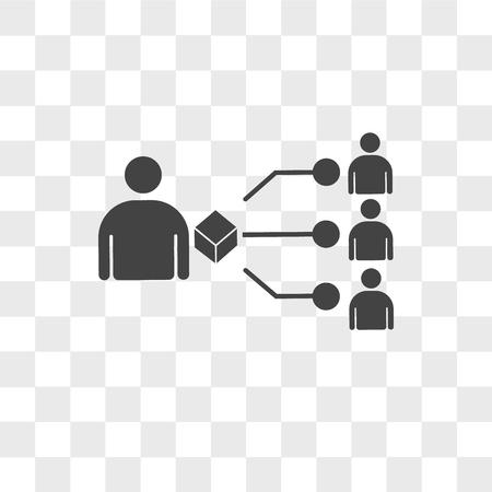 icône de vecteur de fournisseur isolé sur fond transparent, concept logo fournisseur