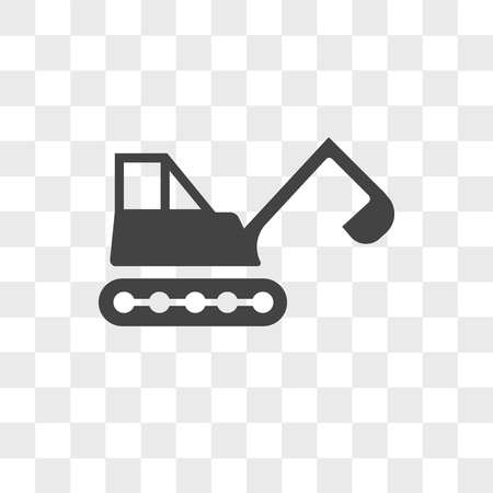 backhoe vector icon isolated on transparent background, backhoe logo concept