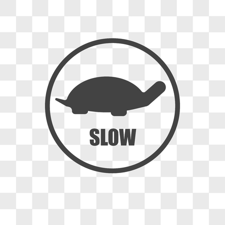 ikona wektora w zwolnionym tempie na przezroczystym tle, koncepcja logo w zwolnionym tempie