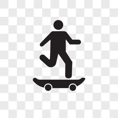Skater vector icon isolated on transparent background, Skater logo concept