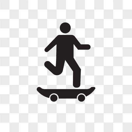 Skater vector icon isolated on transparent background, Skater logo concept