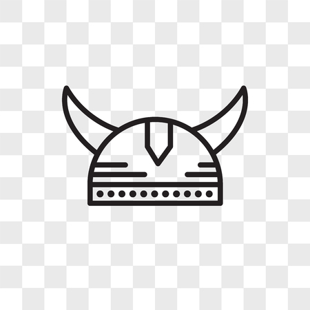 Viking helmet vector icon isolated on transparent background, Viking helmet logo concept