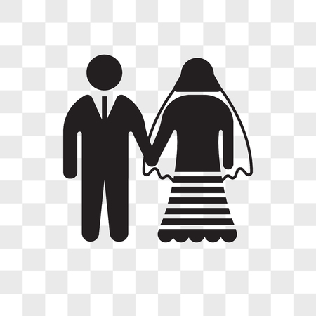 Marriage couple vector icon isolated on transparent background