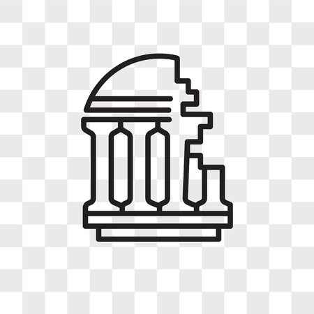 Ancient vector icon isolated on transparent background, Ancient logo concept ЛОГОТИПЫ