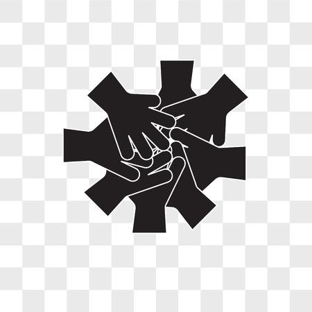 fellowship vector icon isolated on transparent background, fellowship logo concept Logó