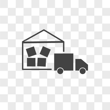 warehouse management vector icon isolated on transparent background, warehouse management logo concept