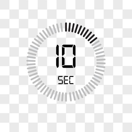 L'icône de vecteur de 10 secondes isolé sur fond transparent, le concept de logo de 10 secondes
