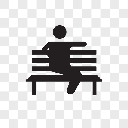 Sitting vector icon isolated on transparent background, Sitting logo concept
