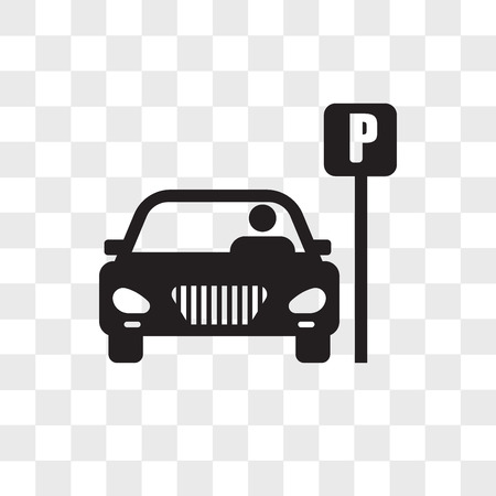 Parking vector icon isolated on transparent background, Parking logo concept  イラスト・ベクター素材