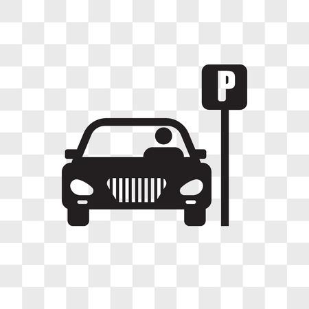 Icône de vecteur de stationnement isolé sur fond transparent, concept de logo de stationnement