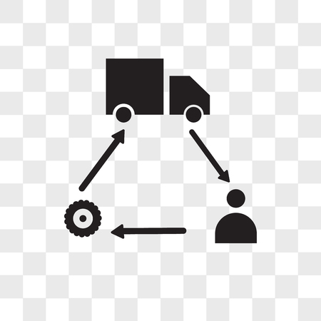 supply chain vector icon isolated on transparent background, supply chain logo concept