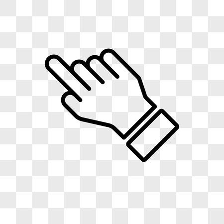 Swipe vector icon isolated on transparent background, Swipe logo concept