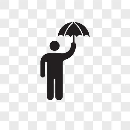 Raining vector icon isolated on transparent background, Raining logo concept