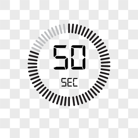 The 50 seconds vector icon isolated on transparent background, The 50 seconds logo concept