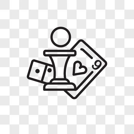 Icône de vecteur de jeu de société isolé sur fond transparent, concept de logo de jeu de société